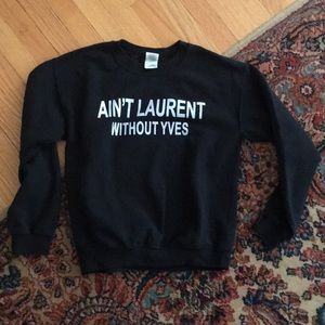 Ain't Laurent without yves crew neck ysl